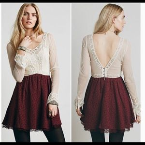 Free People V For Victorian Mini Dress